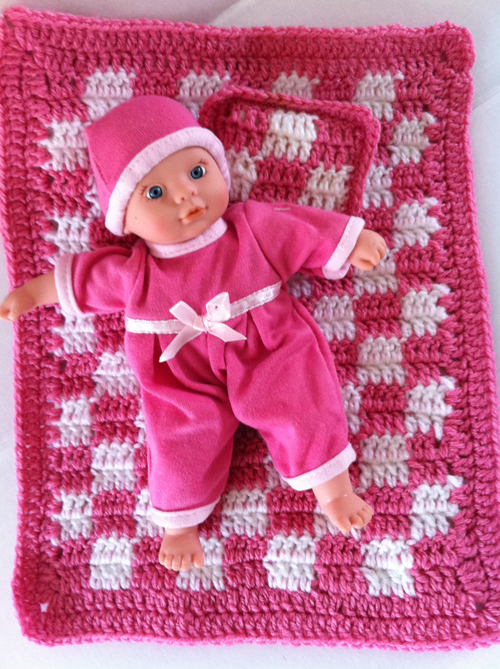 Baby Doll Afghan Pillow