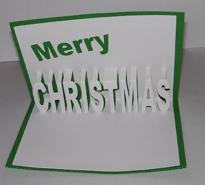 Susan Bluerobot Merry Christmas Word Pop Up Card Plus