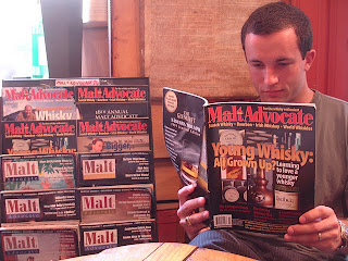 Rack of Malt Advocate Magazine issues