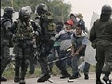 Video may show Colombian police firing shots during protest
