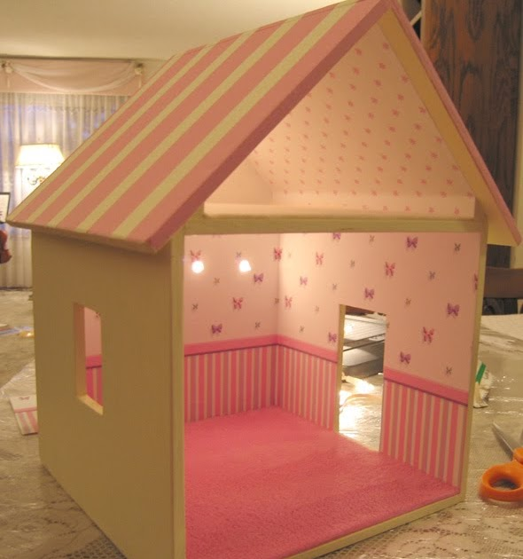 "Dollhouse Decorating!: New Little ""studio"" Dollhouse For"