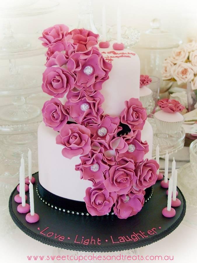 Happy Birthday Melissa Cake With Bling