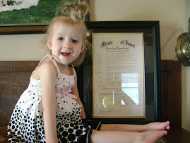 Ava Elizabeth with CDH Awareness Proclamation.