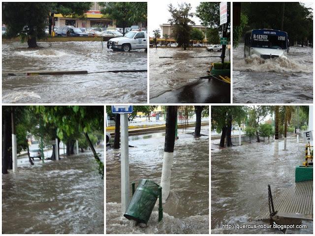Inundaciones en los alrededores de Plaza del Sol, Guadalajara