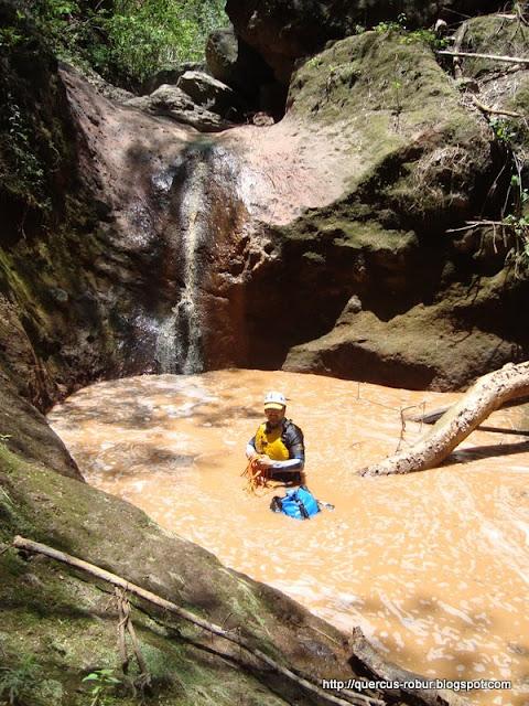 Lugares donde rapeleamos en el cañón