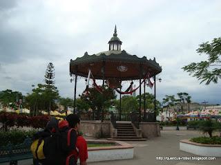 Kiosko de la plaza principal de Ahualulco