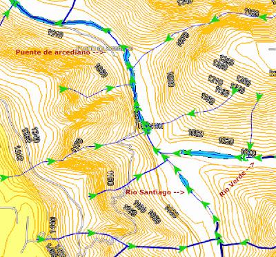 Mapa hidrográfico del Puente de Arcediano