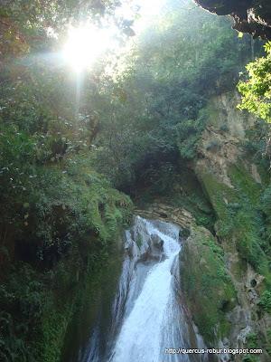Parte superior de la cascada Chuveje