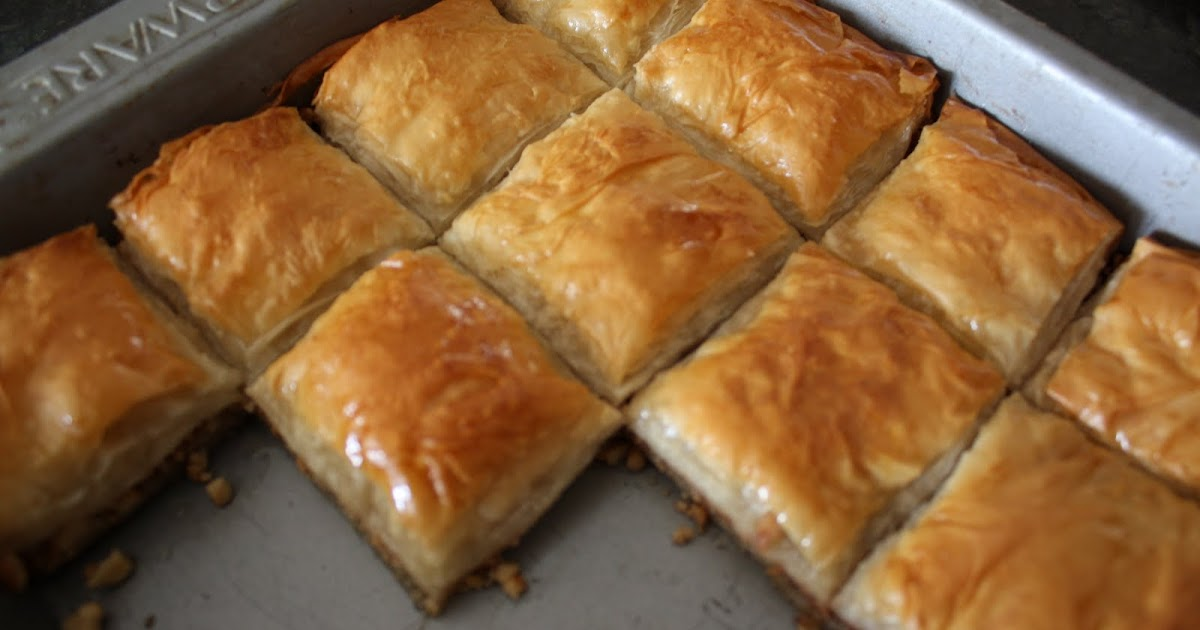 how to make baklava with nuts