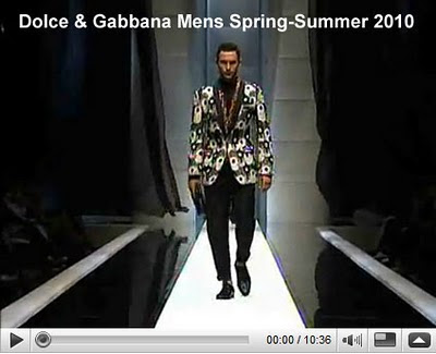 Korean  Fashion 2010 on Posting  Here Is Dolce   Gabbana Mens Spring Summer 2010 Fashion