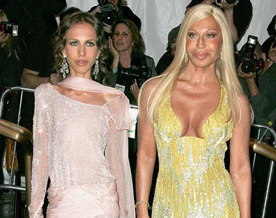 donatella versace. Donatella Versace (Right)