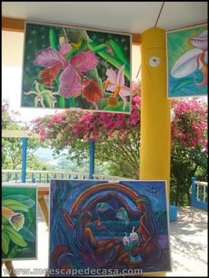 pinturas en el xiv festival de la orquidea 2009, moyobamba