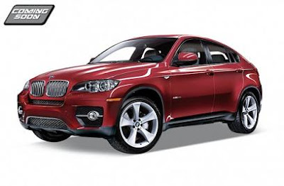 BMW X6, auto a escala