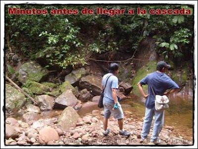 en la cascada Shilcayo
