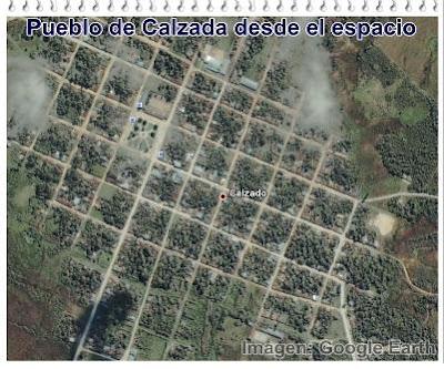 pueblo de calzada por google earth