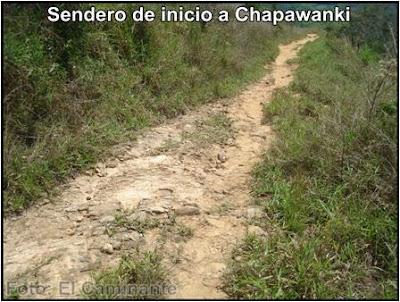 descenso a la carretera por detras del estadio de lamas a chapawanki (peru)