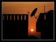 मेरे घर की छत से सूर्यास्त