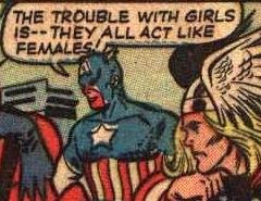 Captain America: Great at punching Hitler. Lousy with The Ladies.