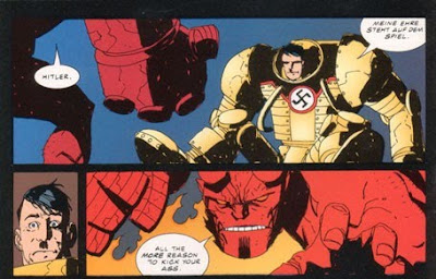Hellboy vs. Mechahitler. There is nothing not awesome about that.