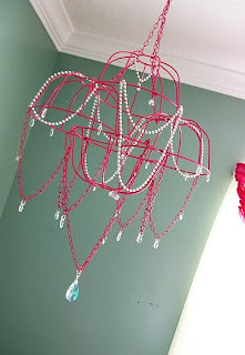 basket chandelier diy