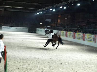 Il rodeo alle notti di Fieracavalli di Verona