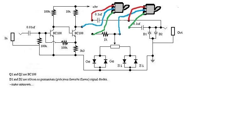 Schema Cablaggio Chitarra Elettrica : Hobby elettronica rxf preamplificatore a transistor per