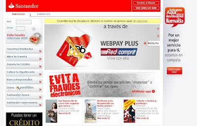 Intento de fraude con Santander.cl