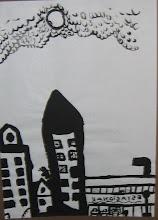 Ciudad ( tinta sobre papel)