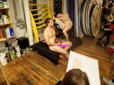For Naked women for art classes think, that