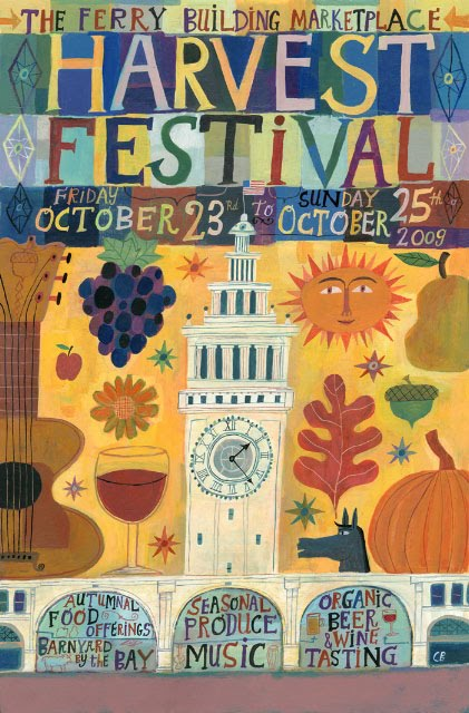Calef Brown, 2009 san francisco harvest festival poster
