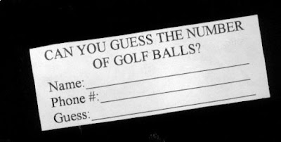 can you guess the number of golf balls?