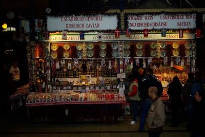 inside the farmer's market, Budapest