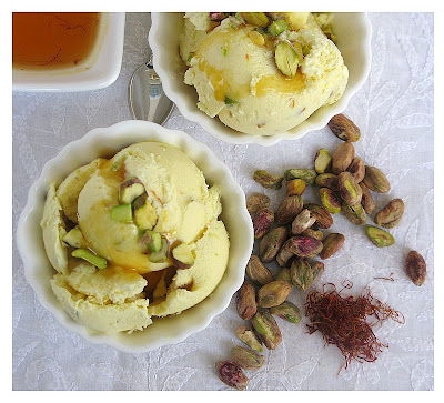 Saffron Orange Pistachio Ice Cream Recipes — Dishmaps