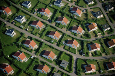 Photo of suburban houses