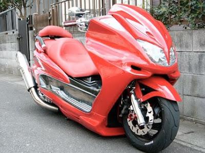 scooter, low rider, modifikasi jepang