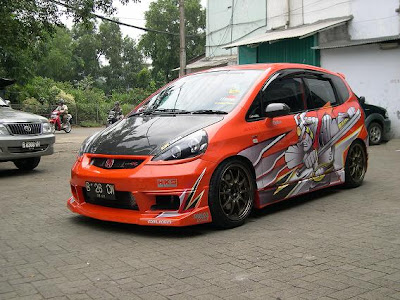 Honda Jazz, Modified by GT Racing - Jakarta
