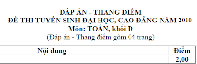dap an de thi dai hoc mon toan khoi d nam 2010
