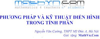 cac phuong phap tinh tich phan dien hinh