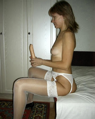 Woman with dildo