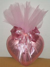 Coração de Chocolate Trufado com recheio de Brigadeiro e Beijinho