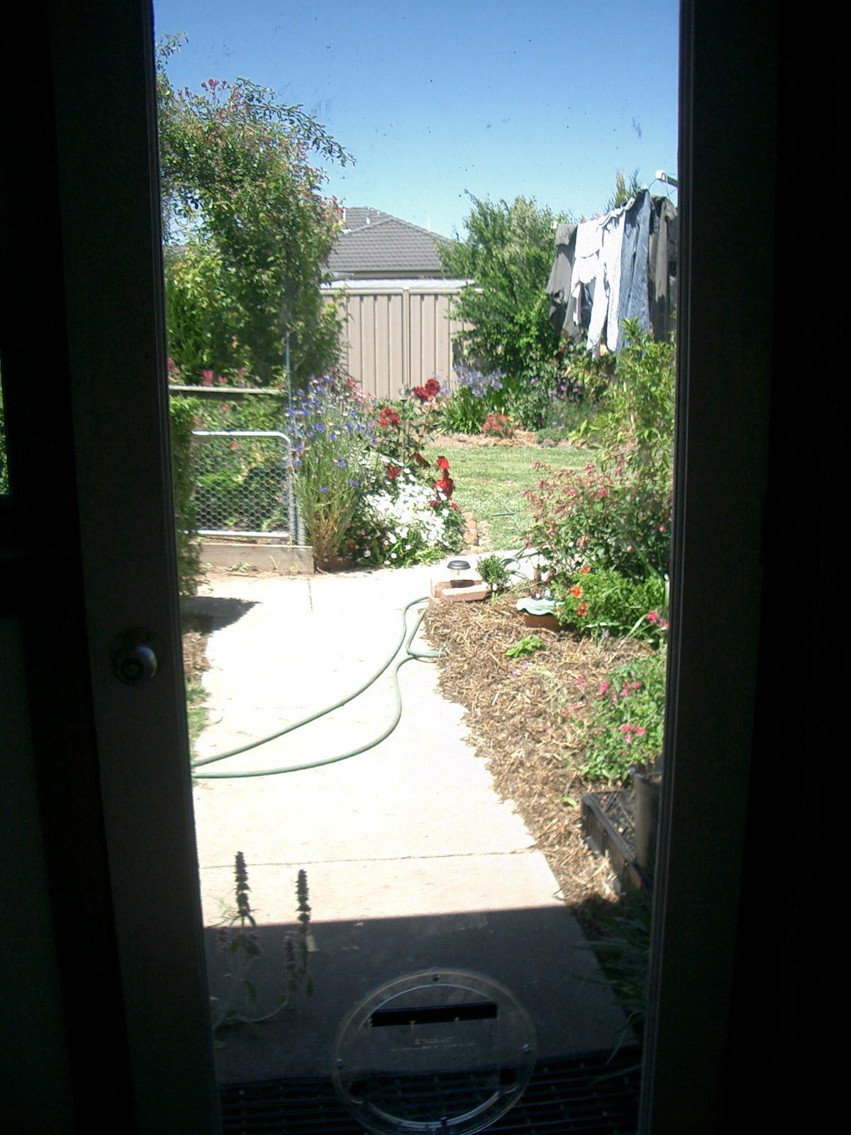 Flower garden let the sun shine in for Idea door yw