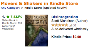 Hallowe'en Lives On as DISINTEGRATION Cracks Kindle Top 100