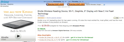 Back in Stock for Delivery by Dec. 24: $139 Kindle Wireless Reading Device, Wi-Fi — At Least for Now