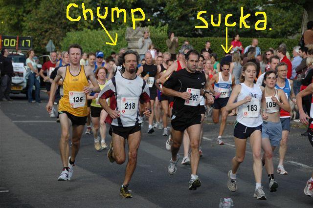 People Who Run Marathons. fat