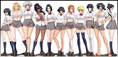 Bleach School Girls