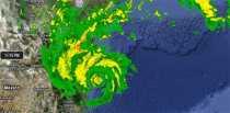 Huracán Alex en Google Maps trayectoria del huracán Alex