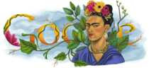 Frida Kahlo logo de Google