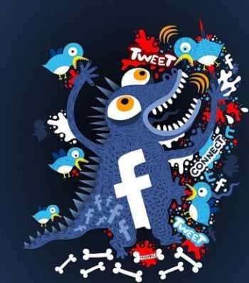 Facebook vs Twitter (Humor) Twitter vs Facebook Facebook contra Twitter - Twitter contra Facebook
