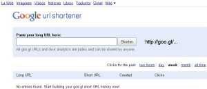 Acortador de url de Google: Goo.gl