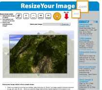 Recortar una imágen online Resize Your Image